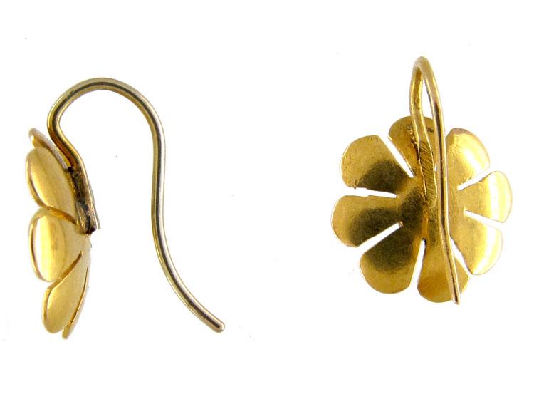 Gold Daisy Victorian Earrings