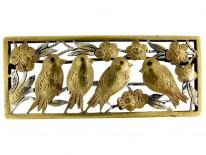 Silver Gilt Bird Brooch