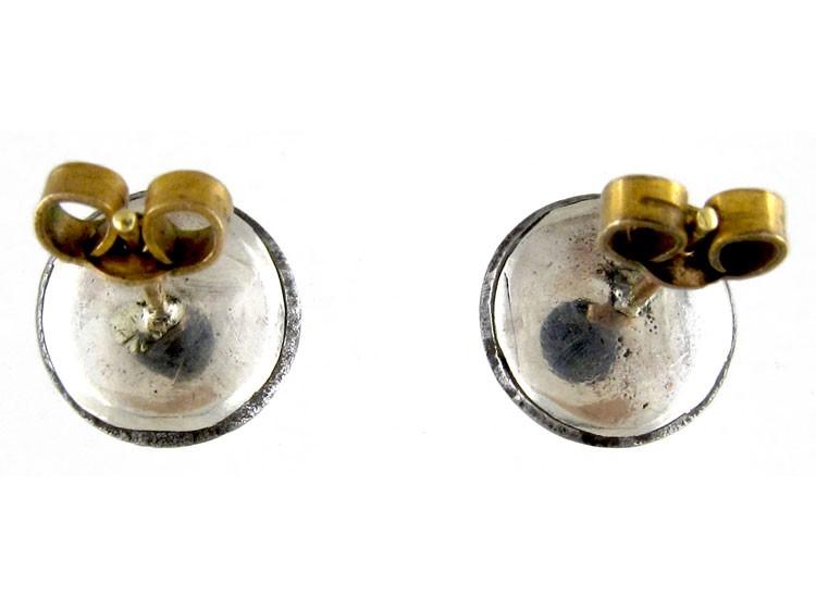Georgian Cut Steel Button Earrings