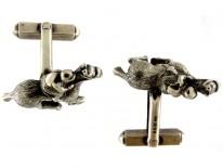 Racehorse Silver Cufflinks