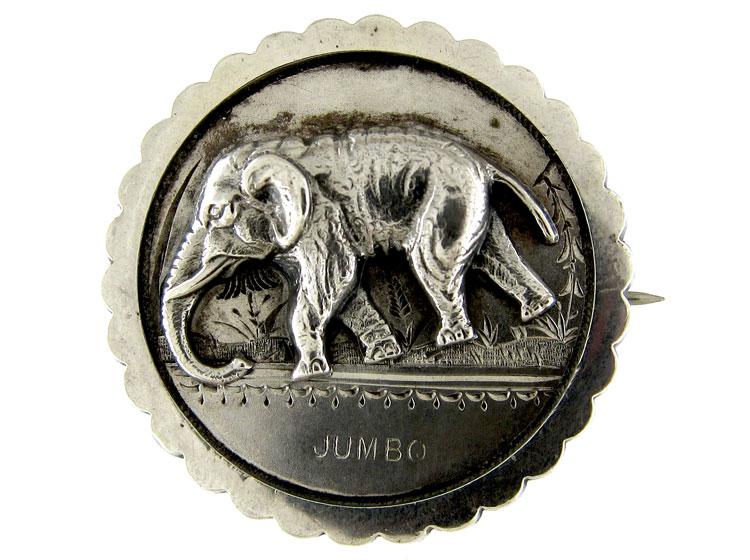 Silver Jumbo The Elephant Brooch