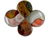 Scottish Agate Knot Brooch