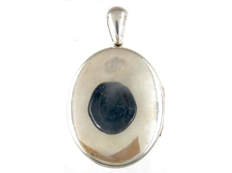 Large Silver Victorian Souvenir Locket