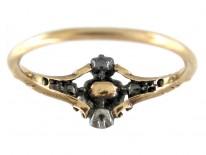 Georgian Diamond & Emerald Ring