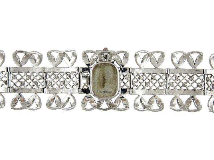 Art Deco Silver & Marcasite Watch Bracelet