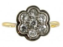 Daisy Diamond Cluster Ring