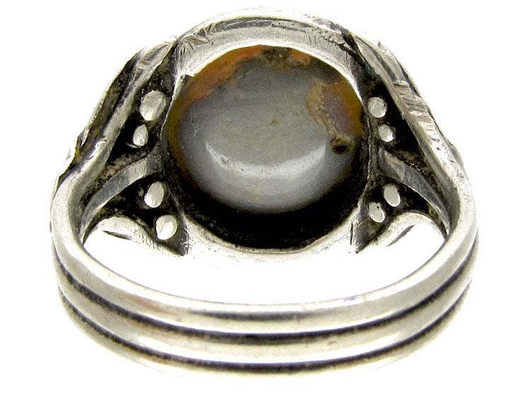 Bernard Instone Silver Arts & Crafts Ring