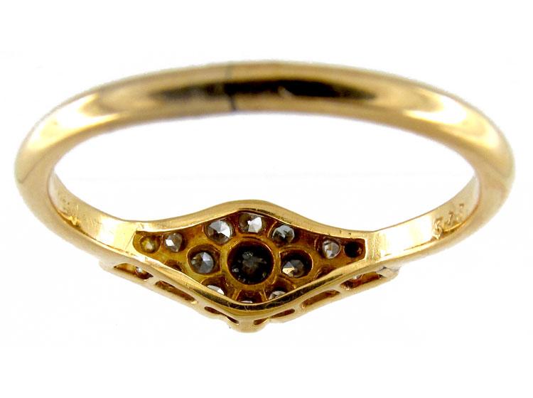 Diamond Shaped Diamond Ring
