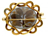 Victorian 18ct Gold & Micro Mosaic Brooch of Flowers