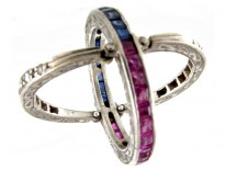 Sapphire, Diamond & Ruby Flip Over Ring