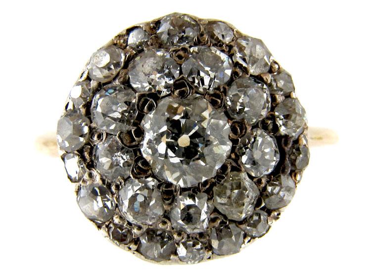 Yellow Gold & Diamond Cluster Ring