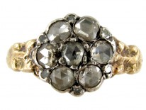 Rose Diamond Cluster Georgian Ring