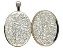 Large Silver Victorian Shell Design Locket