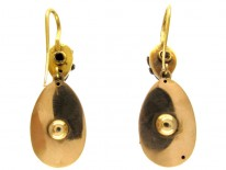 Victorian Diamond & Blue Enamel Earrings