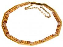 15ct Gold Fancy Link Gate Bracelet