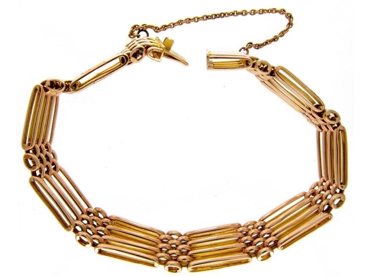15ct Gold Gate Bracelet
