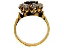 Diamond & Sapphire Cluster Ring