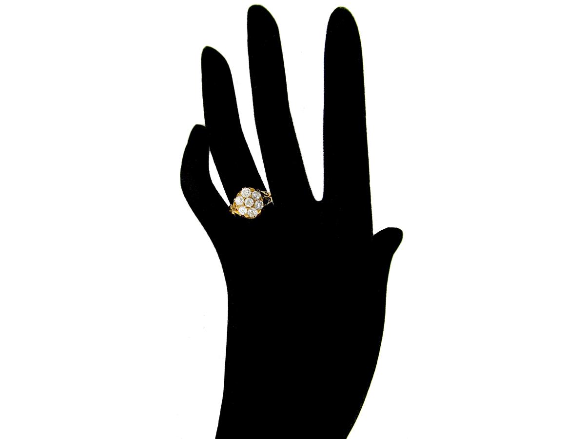 Rose Diamond Cluster Ring