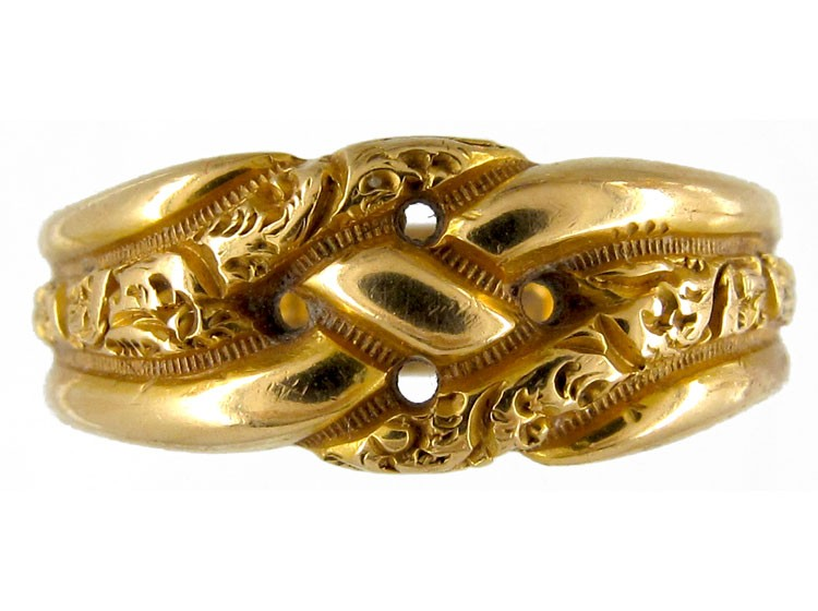 Victorian Knot Gold Ring