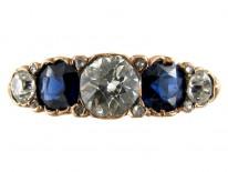 Five Stone Sapphire & Diamond Ring