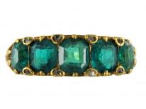 Victorian Columbian Emerald Five Stone Ring