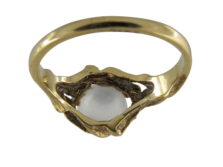Moonstone Art Nouveau Ring