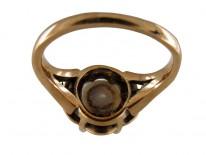 Victorian Natural Pearl & Rose Diamond Ring