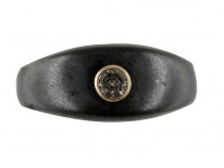 Gun Metal & Gold & Diamond Ring