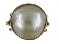 Large Pearl Edwardian Ring