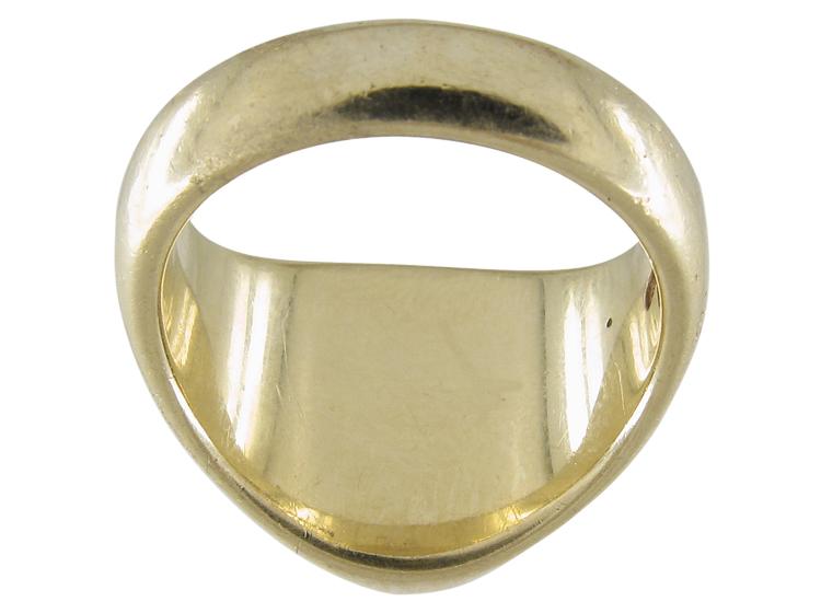 Gold Cockerel Signet Ring