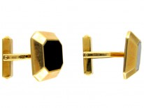 18ct Gold & Onyx Cufflinks