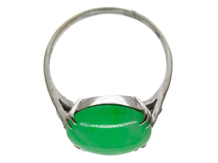 Edwardian Jade Diamond Ring