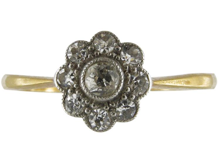 Diamond Edwardian Cluster Ring
