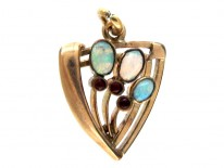 15ct Gold Watch Key set with Turquoise
