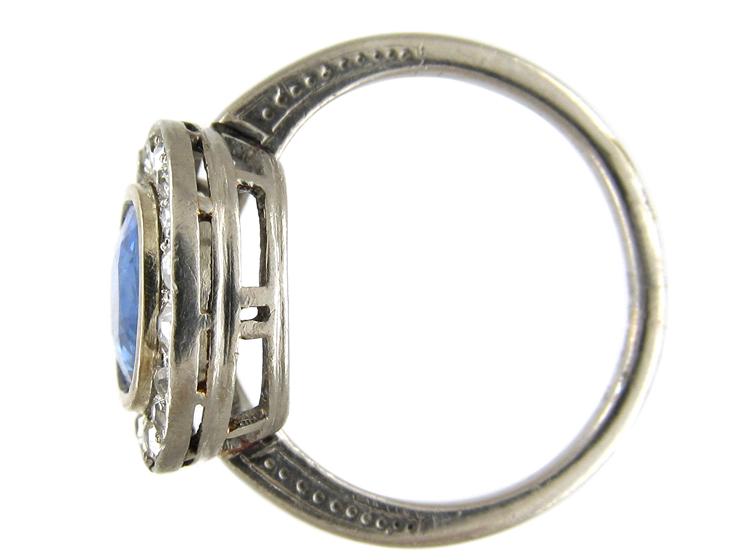 Sapphire & Diamond Oval Ring