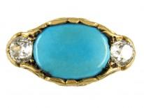 Turquoise, Diamond Arts & Crafts Ring