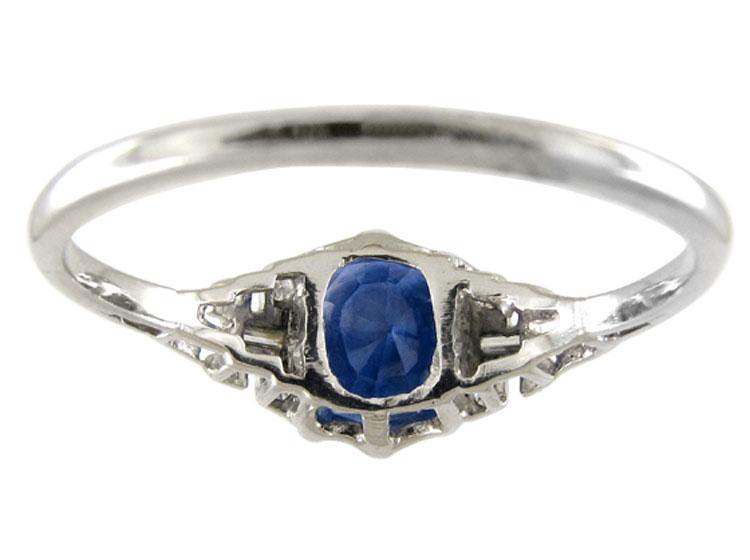 Diamond & Sapphire Art Deco Ring