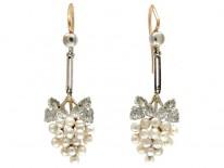 Natural Pearl Grape Earrings