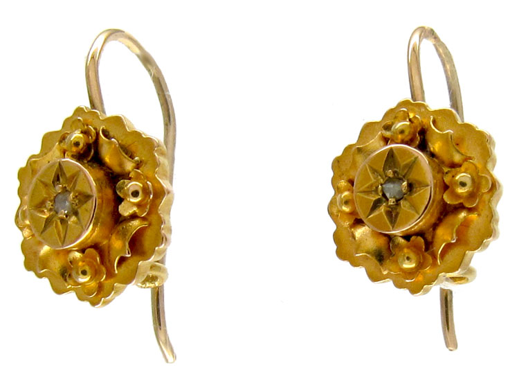 Small 15ct Gold Victorian Earrings