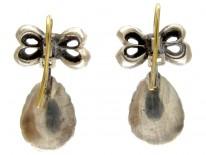 Georgian Paste & Enamel Earrings