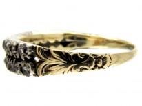 Two Row Diamond Georgian Ring