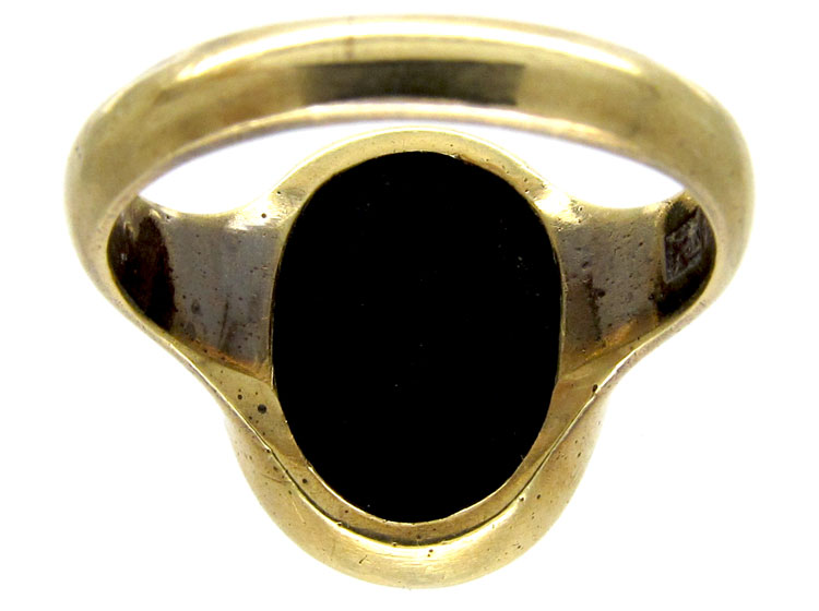 Carved Banded Sardonyx Signet Ring