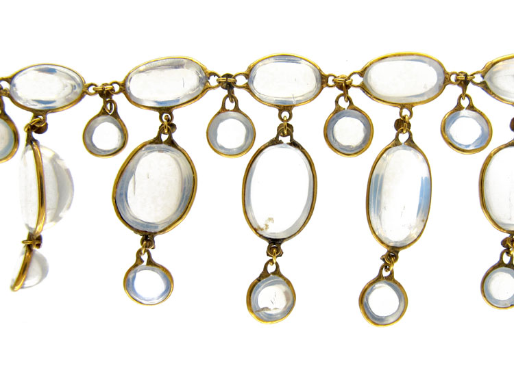 15ct Gold Moonstone Drops Necklace