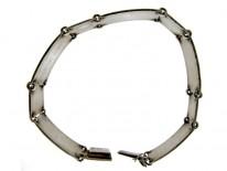 Silver & Enamel Norwegian Retro Bracelet