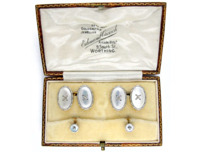Mother of Pearl 9ct White & Yellow Cufflinks & Studs