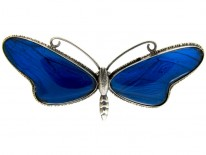 Butterfly Wing Butterfly Silver Brooch