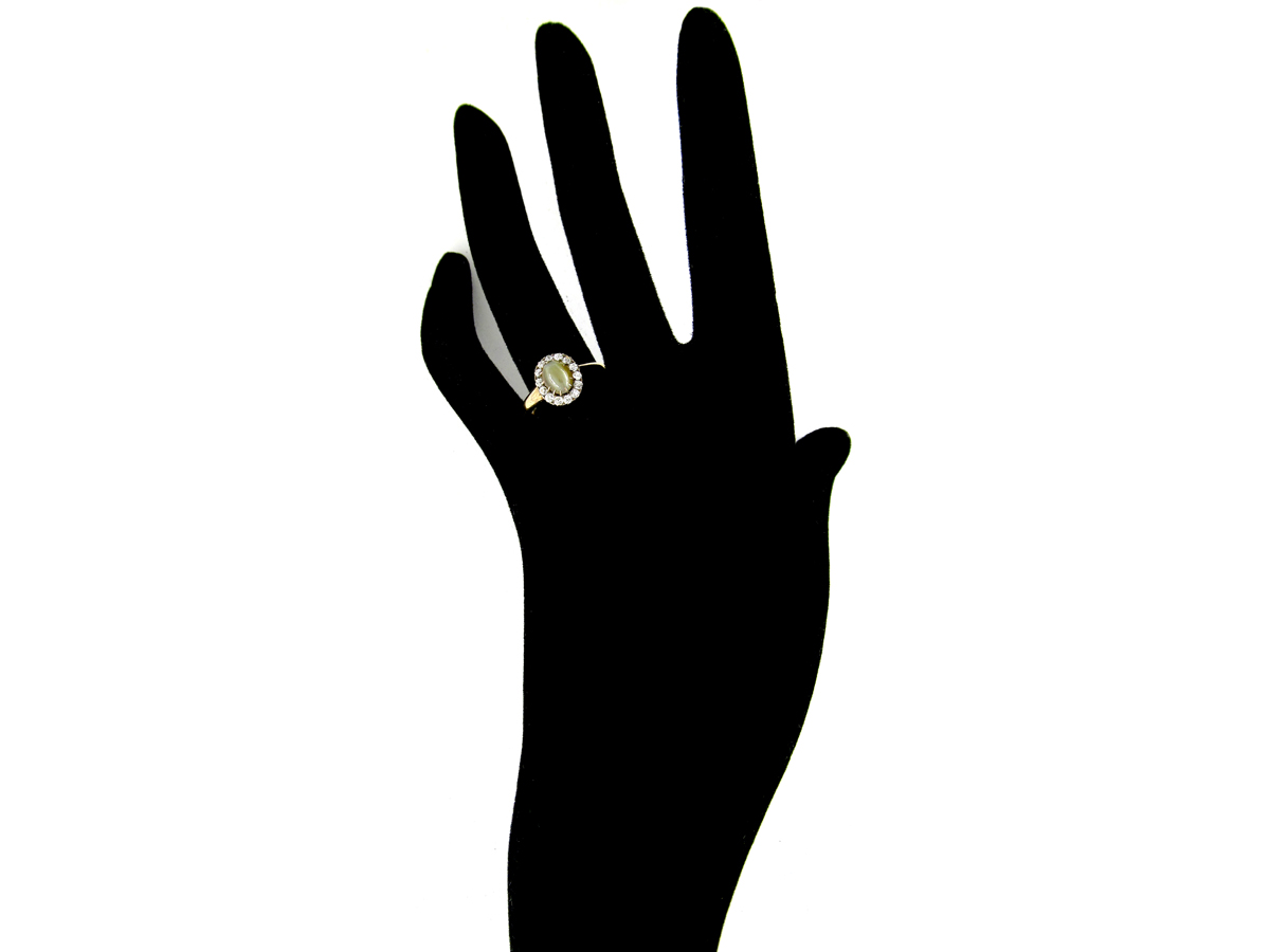 Cat's Eye & Diamond Ring