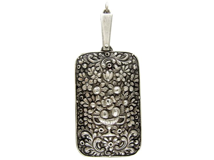 Large Silver Repoussé Pendant
