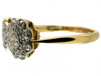 Double Cluster Diamond Edwardian Ring