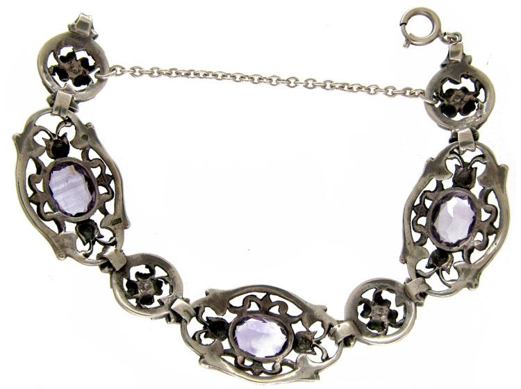 Silver & Amethyst Bracelet